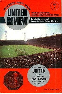 FA CHARITY SHIELD PROGRAMME 1967: Man Utd v Spurs