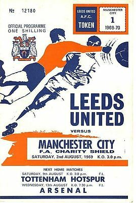 FA CHARITY SHIELD PROGRAMME 1969: Leeds v Man City