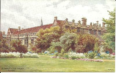 ST. JOHN'S COLLEGE GARDEN, OXFORD - ARTIST SIGNED BY A.R.Q.  c1939