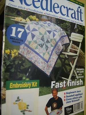 Needlecraft Magazine #26 August 1993 & Kit -Lillies Rug Pt3, Quilt, Seashell App