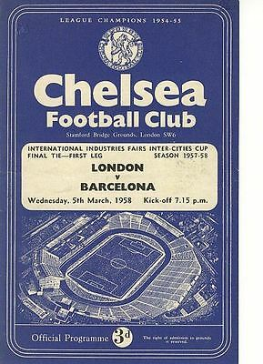 FAIRS CUP FINAL 1958: London v Barcelona