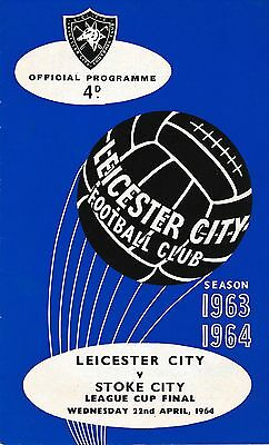 LEAGUE CUP FINAL PROGRAMME 1964 Leicester v Stoke City