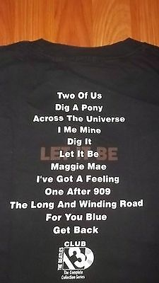 2XL Promo BEATLES 13 CLUB Collection T-Shirt XXL let it be Album CD collection