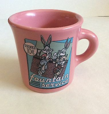 Looney Tunes Bugs Bunny Fountain Service Ceramic Coffee Mug HLC Cup