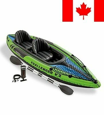 Intex Challenger K2 Kayak, 2-Person Inflatable Kayak Set with Aluminum Oars a...