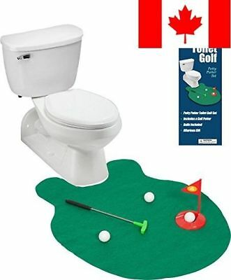EZ Drinker Toilet Golf Putter Practice in The Bathroom Toy with Potty Putter
