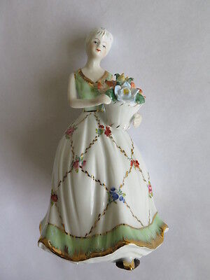 Antique KPM Porcelain Figurine Lady Holding Flowers