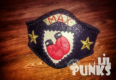 Baby Boy's personalized sparkle Boxing Belt