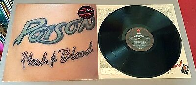 POISON Flesh & Blood **1st UK Press A1/B1 w/Insert** EST 2126 - EXCELLENT