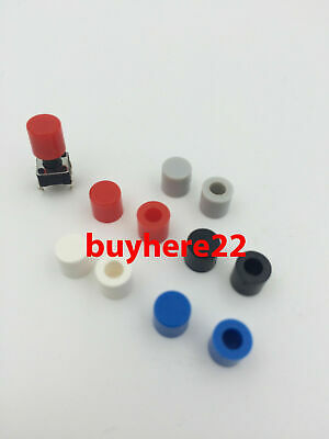 Round Tactile Button Caps For 6×6×9.5mm Tactile Switches Various Colours