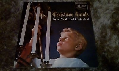 """Christmas Carols From Guildford Cathedral 12"""" vinyl LP Barry Rose conducts"""