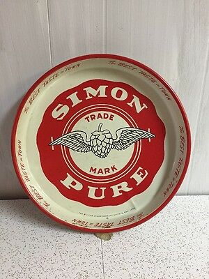 Simon Pure Vintage Serving Beer Tray