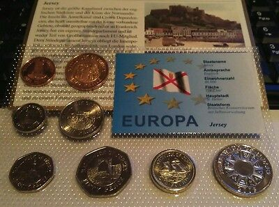 Jersey uncirculated coin set in blister pack.
