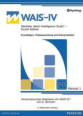 Wechsler Adult Intelligence Scale - IV (WAIS-IV) - IQ test (complete)