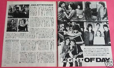 Joan Jett Light Of Day 1987 Clipping Japan Magazine Pg 5A 2Page