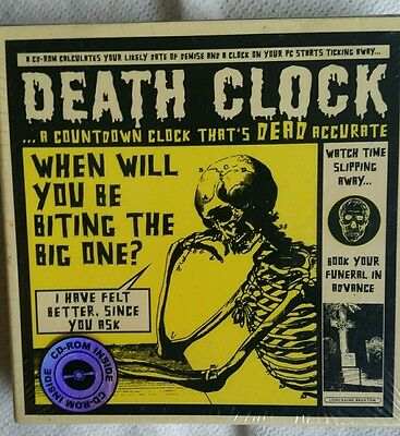 DEATH CLOCK DISPLAY on CD-ROM PC  Lagoon Games  NEW