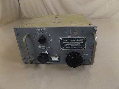 Vintage Royal Canadian Air Force Radio Frequency Tuner Aviation Aircraft Plane