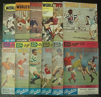 WORLD SOCCER MAGAZINE 1961 Completer set of 12 issues