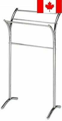King's Brand BS-1248 Chrome Finish Towel Rack Stand