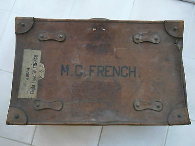 Vintage WW11 RAF expanding leather suitcase R.A.F world war two