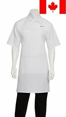 Chef Works F8 Butcher Apron, 34-Inch Length by 24-Inch Width, White