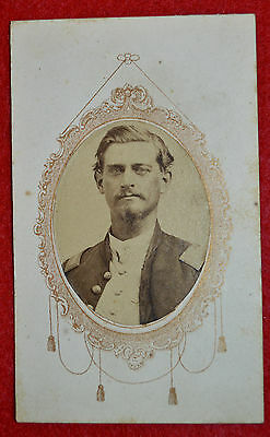CDV Officer from ILL. 9th. Infantry 2nd. Lieutenant Civil War Period!