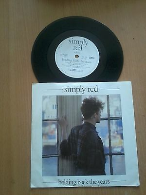 "Simply Red-Holding Back The Years 7"" Vinyl Single"