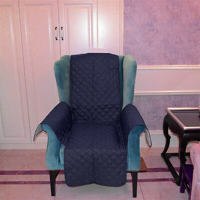 1-Seater Sofa Arm Chair Settee Protector Furniture Throw Slip Cover DarkBlue