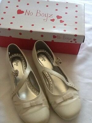 Girls white / pearl dress shoes /party/wedding/comunnion