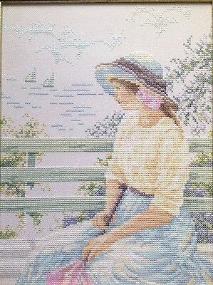 Embroidery Portrait Lady Cross Stitch Picture Embroidered Must See Art