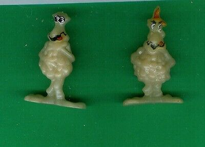 2  Soggies Captain Crunch  Cereal Premiums 1986 Plastic Playset Figures