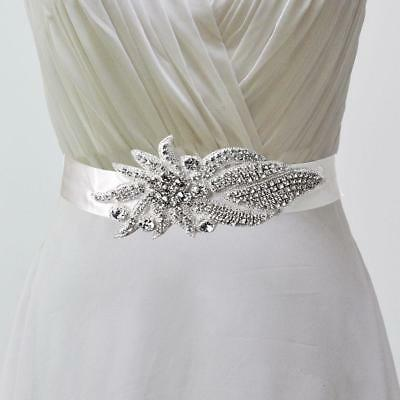Vintage Crystal Bridal Sash Rhinestone Wedding Belt Luxury Belt Dress White