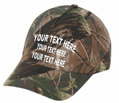 Cap Hat Embroider Camo Oak Hound Personalized Dog Hunter Squirrel Coon