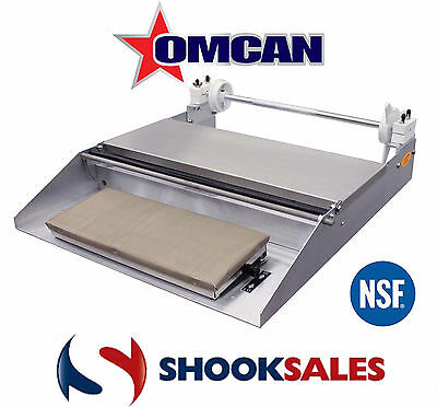 "Omcan 14428 Commercial Stainless Steel Food WRAPPING MACHINE One Roll 18"" NSF"