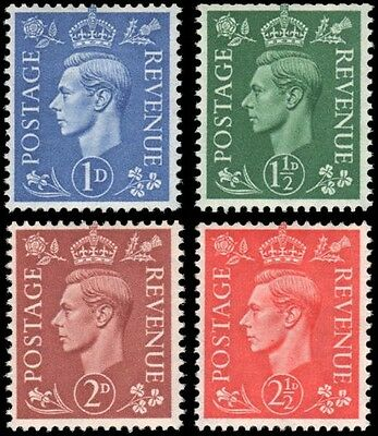 Great Britain #281a-284a set MLH
