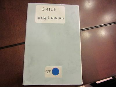 Vintage Book of Postage Stamps All Cataloged 200+ Mostly Diff - ALL FROM CHILE