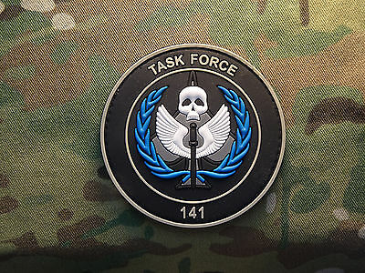 """Call of Duty Task Force 141 GITD 2x3"""" PVC Tactical Hook Morale Patch"""