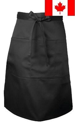 Chef Works Revf24-BLK Black Reversible Three Pocket Apron 27 by 26-Inch