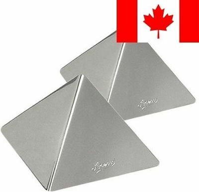 Ateco 24937 Large Stainless Steel Pyramid Mold, Set of 2
