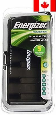 Energizer CHFCV Universal Value Charger, Charges AA/AAA/C/D/9V Rechargeable B...