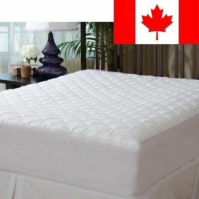 """Mattress Pad Cover - Fitted - Quilted - Queen (60x80"""") - Stretches to 20"""" Deep!"""