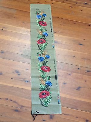 Gorgeous Large Tapestry Canvas to Stitch a Bell Pull by Tepex Vienna - NEW