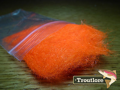 Hot Orange Arctic Snow Ftd Dubbing - New Fly Tying Dub Material