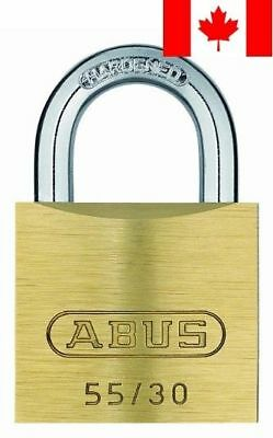ABUS 55/30 B KD 1.25-Inch Solid Brass Padlock with Hardened Steel Shackle