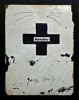 JOSEPH BEUYS - A 1950s  to 1960s MIXED MEDIA ORIGINAL PAINTING DRAWING COLLAGE