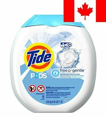 Tide PODS Free & Gentle HE Turbo Laundry Detergent Pacs 81 count Tub