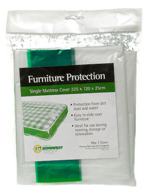 Single Bed Plastic Mattress Cover, Storage & Moving Protection