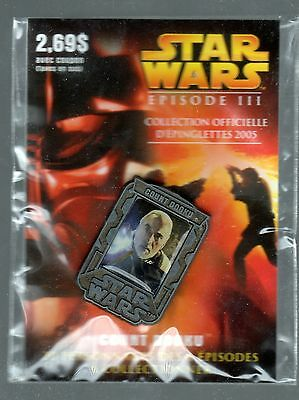 2005 Star Wars Episode Iii Lapel Pin (Sold In Quebec Prov. Only) Count Dooku