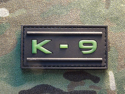 K-9 K9 GITD Tactical Hook Military Police Morale Patch Glow in the Dark