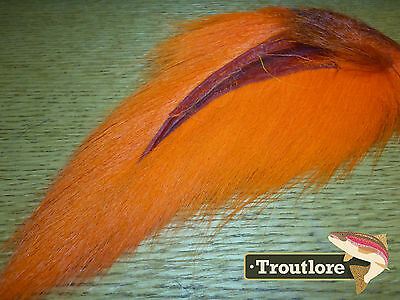 Orange Bucktail Nature's Spirit Select Buck Tail - New Fly Tying Hair Material